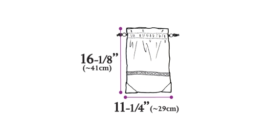 Drezier Atelier making design development :: clothes bag size specification