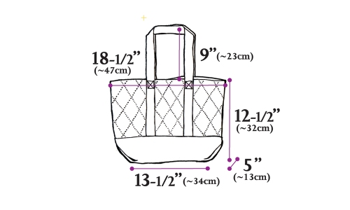 Drezier Atelier making design development :: parent bag size specification