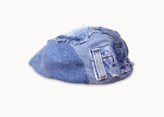 Upcycling Levi's Jeans (sand washed; light indigo) into Ivy Cap with