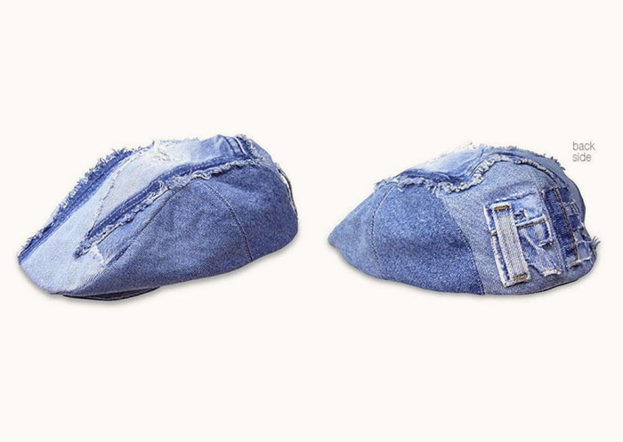 Upcycling Levi's Jeans (sand washed) into Ivy Cap with