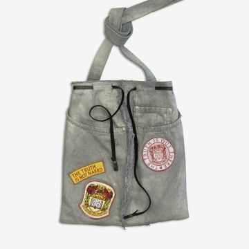 Upcycling Levi's Jeans (sliver painted) into Motif Tote Bag, feature picture | Drezier Atelier made for In The Rye second-hand vintage store