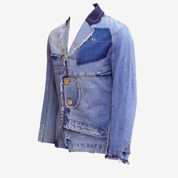 Upcycling Levi's Jeans (sand washed; light indigo) into homme blazer, feature picture | Drezier Atelier made for In The Rye second-hand vintage store