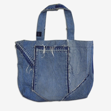 Upcycling Levi's Jeans (minor washed; indigo) into Reversible Tote Bag | Drezier Atelier made for In The Rye second-hand vintage store